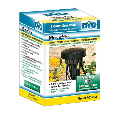 Dig Pc1202 2 Gph Per Zone Irrigation Maverick 12 Outlet Retrofit Drip Kit With 1 2 Fpt Walmart Com Walmart Com