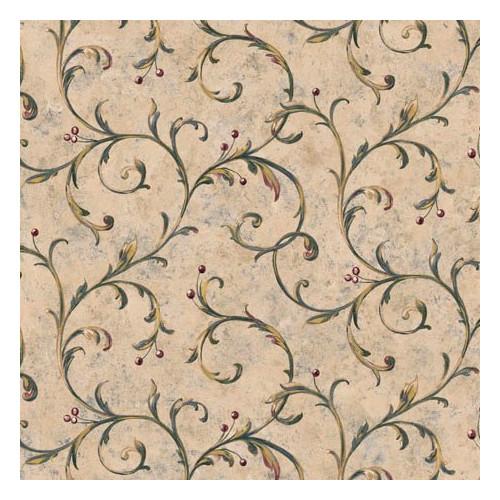 4 Walls Lodge D cor Berry Trail 33' x 20.5'' Scroll Wallpaper