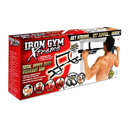 Pro Fit Iron Gym Total Upper Body Workout Bar - Extreme Edition - NEW (Iron Gym Pull Up Bar Ab Straps)