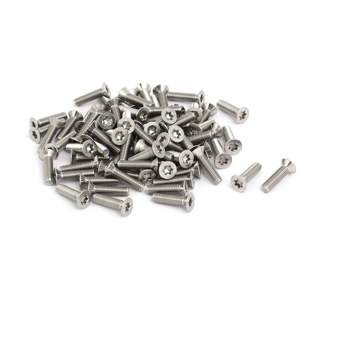 M3x12mm 304 Torx affleurant acier inox Type entra nement 80pc Argenté - image 3 de 3