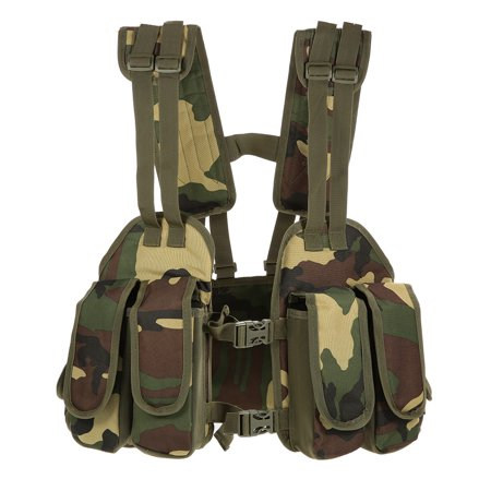 Outdoor Tactical Chest Rig Adjustable Padded Modular Military Vest Mag Pouch Magazine Holder Bag Platform
