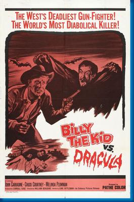 Billy The Kid Vs Dracula Movie Poster by
