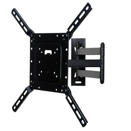 VideoSecu Articulating TV Wall Mount for 24-50 Toshiba Phillips Sansui LCD LED HDTV Bracket – VESA 400×400/200x200mm CB6