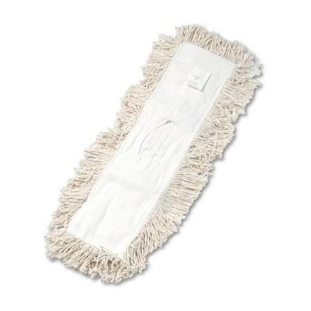 Boardwalk Industrial Dust Mop Head, Hygrade Cotton, 24w x 5d, White
