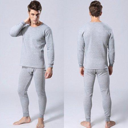 thermal underwear set winter thicken long johns men warm. Black Bedroom Furniture Sets. Home Design Ideas
