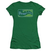 Dragon Tales Logo Distressed Juniors Premium Bella Shirt