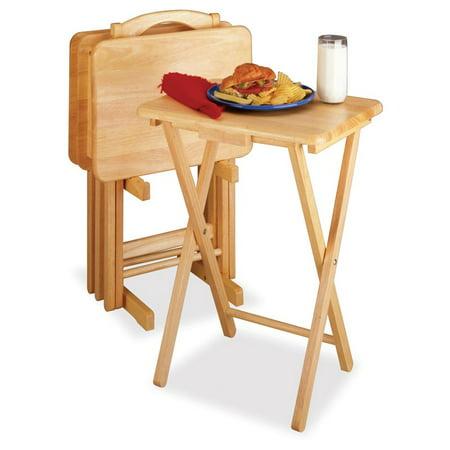 Winsome Natural 5-Piece Rectangular TV Table Set - Walmart.com