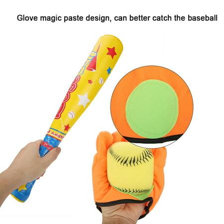 Ejoyous 4PCS Sports Baseball Toys Soft Baseball Bat Ball Glove Set for Kids Children Gifts, Soft Baseball Toy, Baseball Toy Set - image 2 of 8
