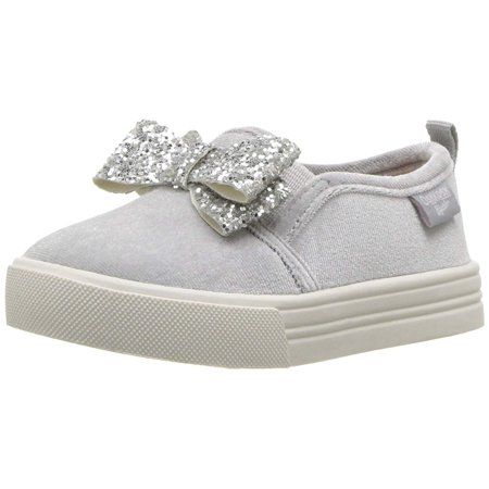 Kids Oshkosh B'gosh Girls Maeve-G Fabric Low Top Slip On Fashion (Silver Chrome Girl)