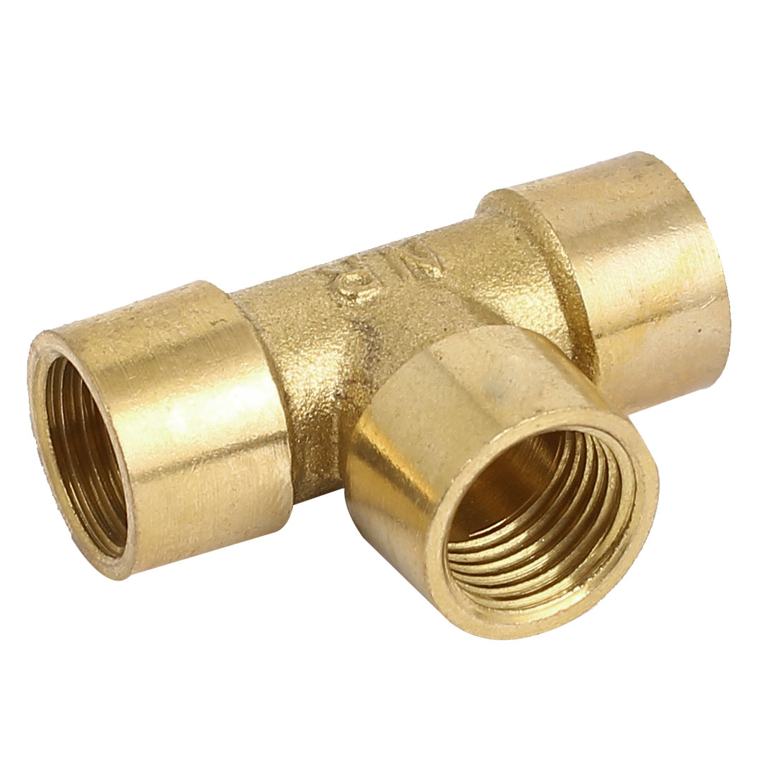 1/4BSP Female Threaded 3 Ways Cross Coupler Adapter Pipe Fitting Brass Tone - image 2 of 2