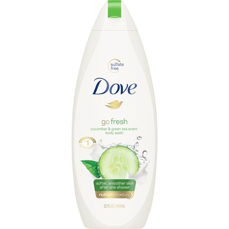 - Dove go fresh Cucumber and Green Tea Body Wash, 22 oz