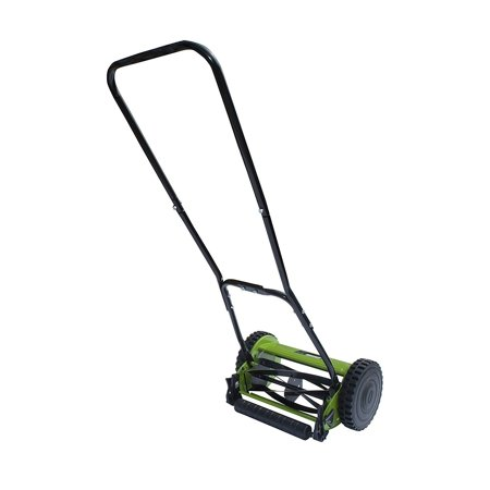 Environmentally Friendly Lawn Mowers (ALEKO Hand Push Lawn Mower with Adjustable Cutting Height - 5-Blade - 12-Inch )