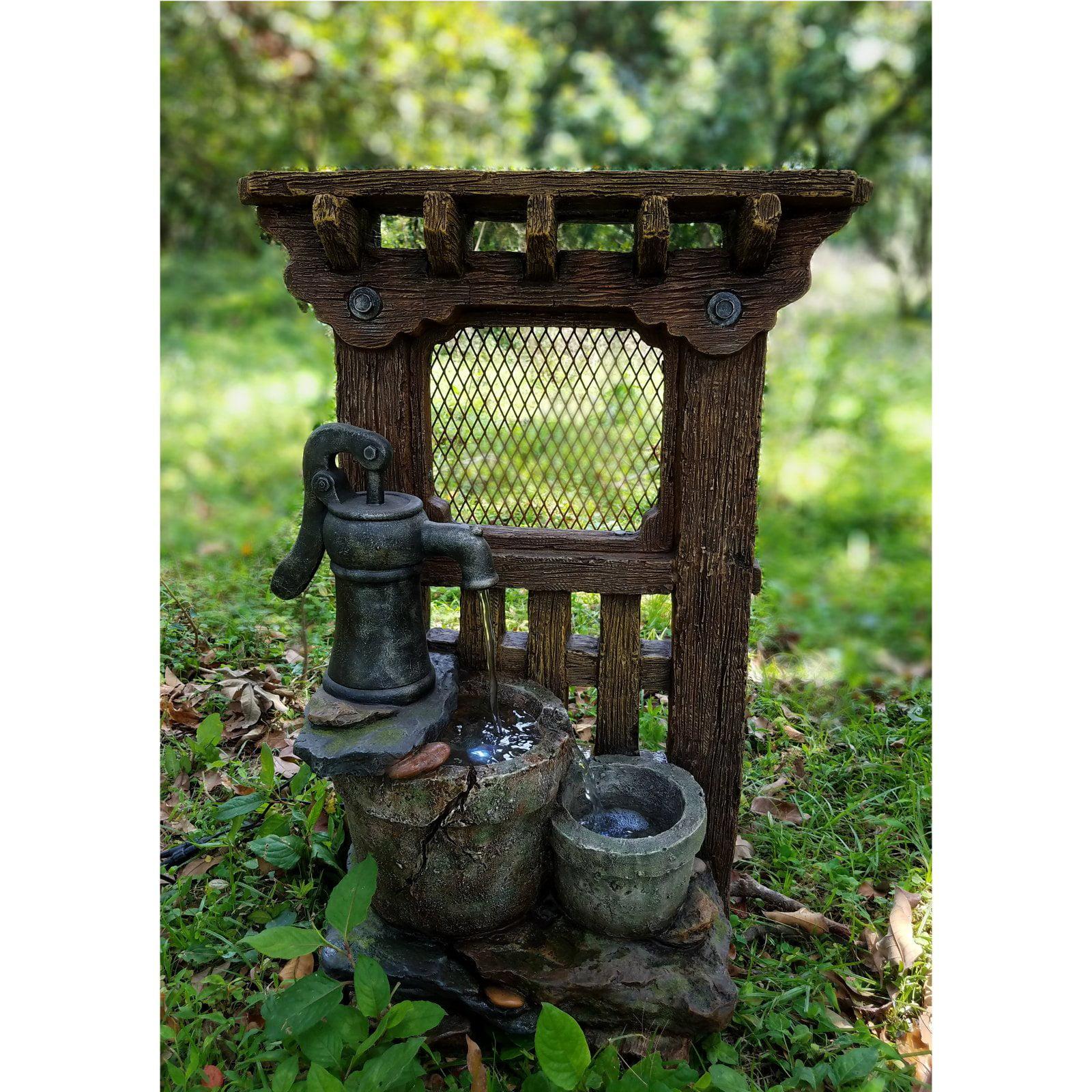 Hi-Line Gift Ltd. Screen Door with Hand Pump and Bucket F...