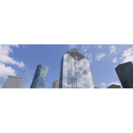 - Low angle view of office buildings Houston Texas USA Poster Print
