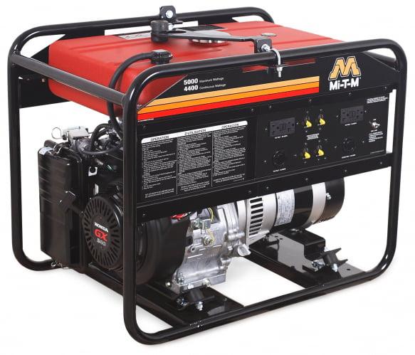 Mi-T-M GEN-5000-0MH0 Gasoline Generator, 270cc Honda GX270 OHV motor, 5000 watts, 5.7 gallon tank by Mi-T-M