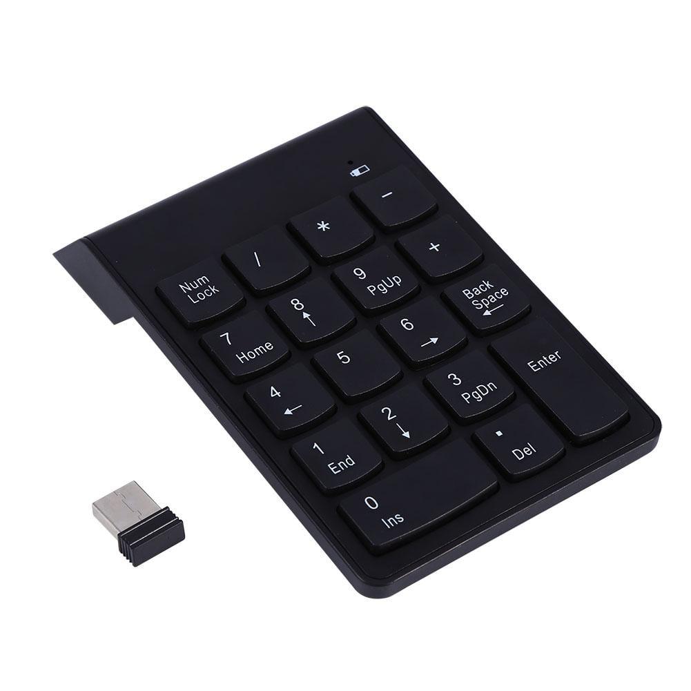 2.4G Wireless Ultra Slim Numeric Keypad 18 Keys With Mini USB Receiver Auto Sleep Mode New Pro, 2.4G Wireless Keypad, Wireless Numeric Keypad