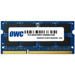 OWC 8GB (2x4GB) DDR3 1066MHz 204-Pin Non-ECC SoDIMM Memory Upgrade (1066 Mhz Ddr3 Notebook Memory)