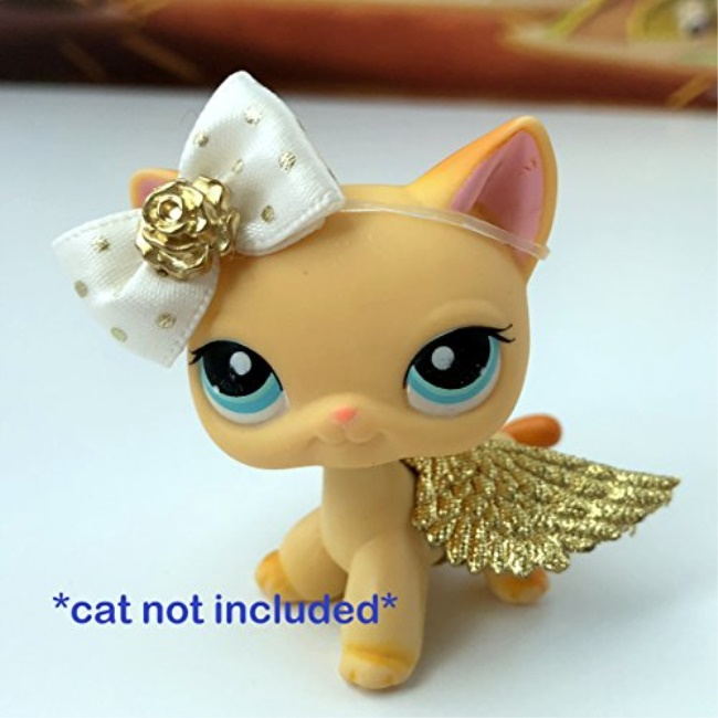 Littlest Pet Shop Accessories LPS Lot Bow and Fairy Wings CAT NOT INCLUDED by