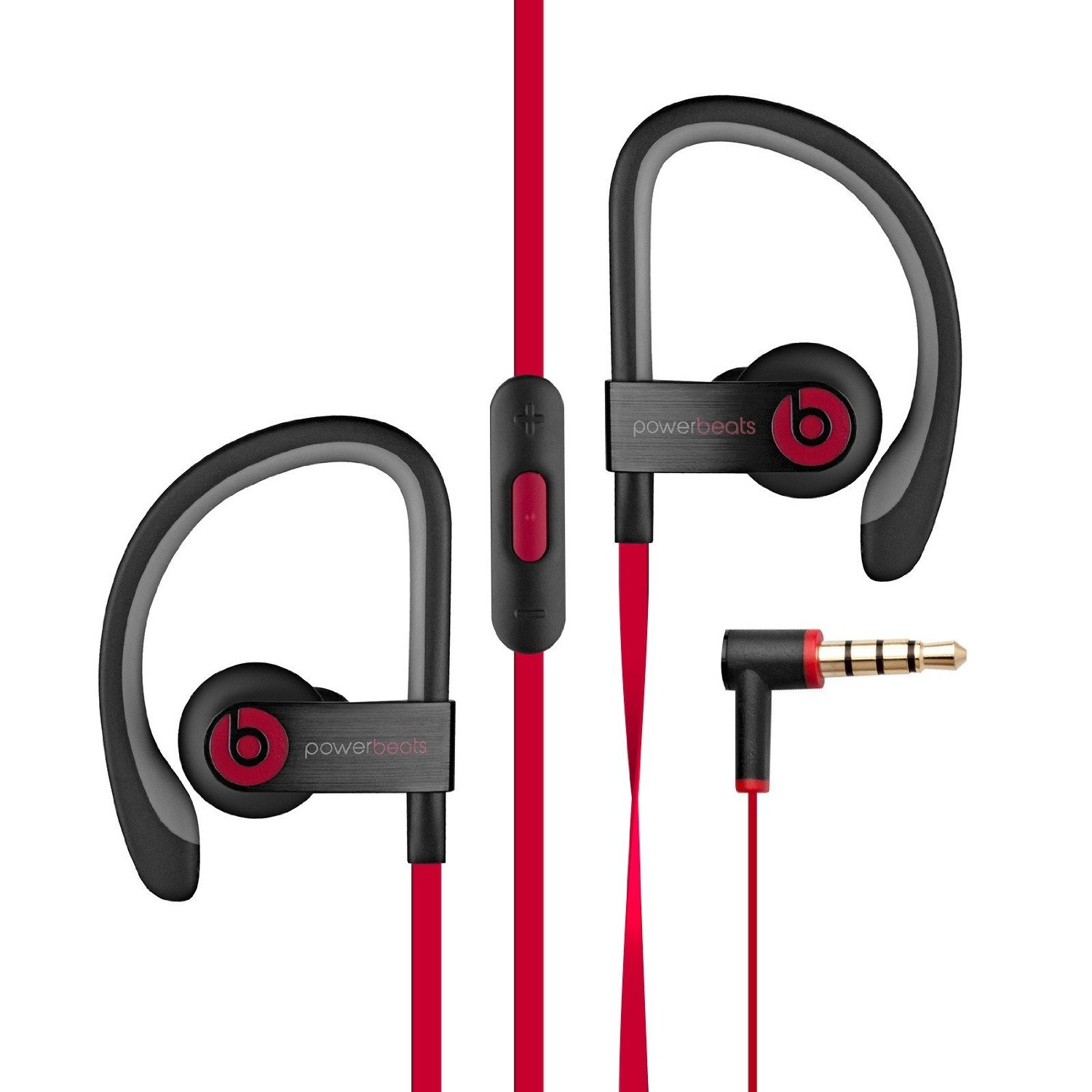 Beats Powerbeats 2 Wired In-Ear Headphone - Black (Certified Refurbished) - WIRED