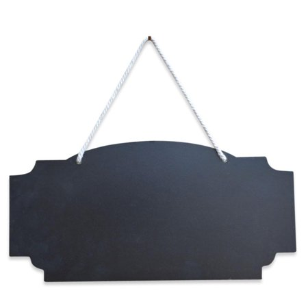 12 Inch Wide Blackboard, Erasable Hanging Chalkboard- Sign Display Board