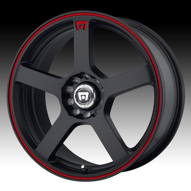 Motegi MR116 Matte Black Red 18x8 5x112 / 5x4.5 35mm (MR11688046735)