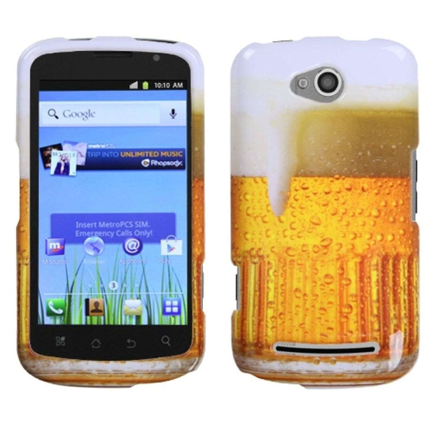 Insten Beer – Food Fight Collection Phone Case for COOLPAD: 5860E (Quattro 4G)