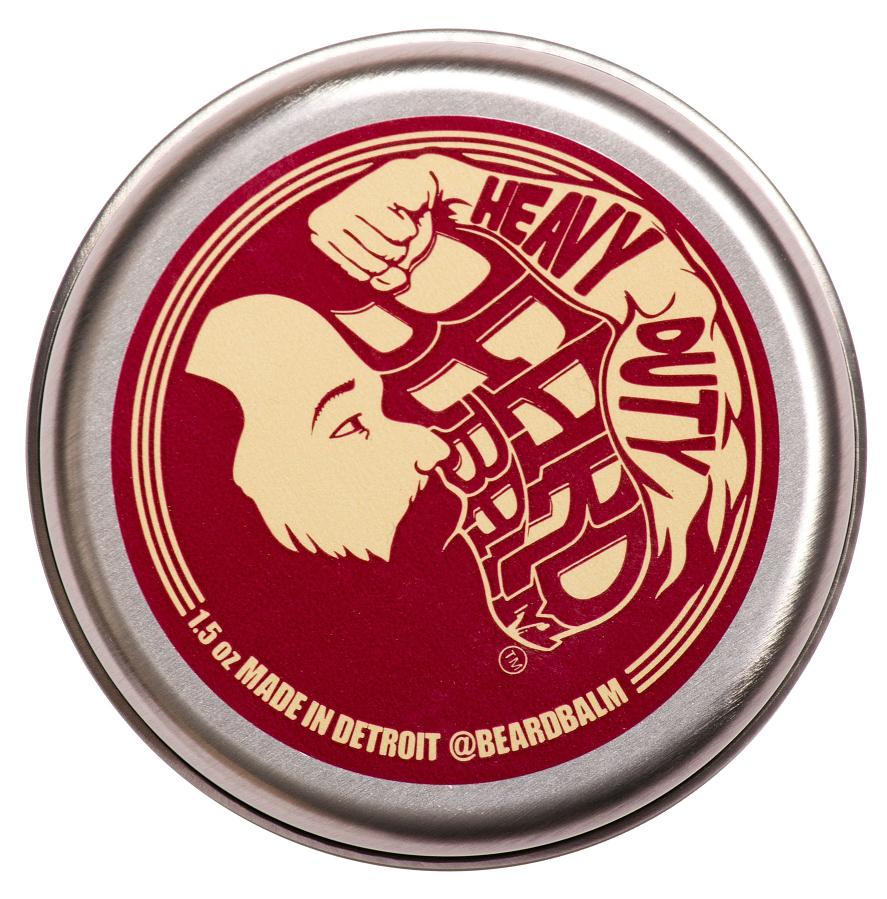 Beard Balm, Heavy Duty - All-Natural Beard Styling Aid, leave-in Conditioner , 1.5 oz Can
