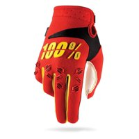 100% Airmatic Youth MX Gloves Red/Yellow