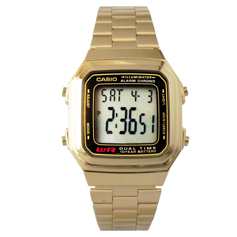 Casio digital water resistant gold tone stainless steel watch casio digital water resistant gold tone stainless steel watch a178wga 1a walmart amipublicfo Gallery