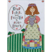 Tobin Counted Cross-Stitch Kit, Keep Faith