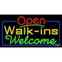 Walk ins Welcome Open LED Sign (High Impact, Energy Efficient)