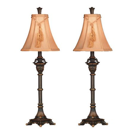 kenroy home rowan buffet lamp metallic bronze set of 2. Black Bedroom Furniture Sets. Home Design Ideas