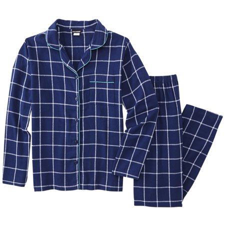 Blue and Navy Plaid Short Pajamas for Men These Comfort Zone brand short pajamas for men feature a blue and navy plaid print. The broadcloth fabric is a cotton, polyester blend. They are perfect for warm summer weather. The bottoms close with 5/5(3).