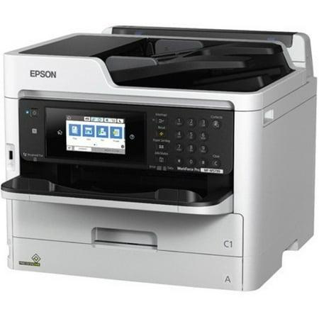 Epson WorkForce Pro WF-M5799 Inkjet Multifunction Printer - Monochrome - Copier/Fax/Printer/Scanner - 24 ppm Mono Print - 4800 x 1200 dpi Print - Automatic Duplex Print - 1200 dpi Optical Scan - 250
