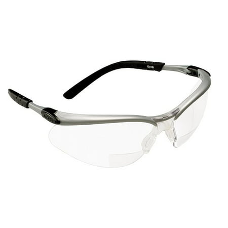 3M 11375 +2.0 Diopter, Silver/Black Frame, Clear Lens, 10 Pack