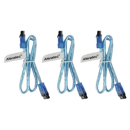 Aleratec SATA 3 Cable 6gb Male Straight w/ Clip 20