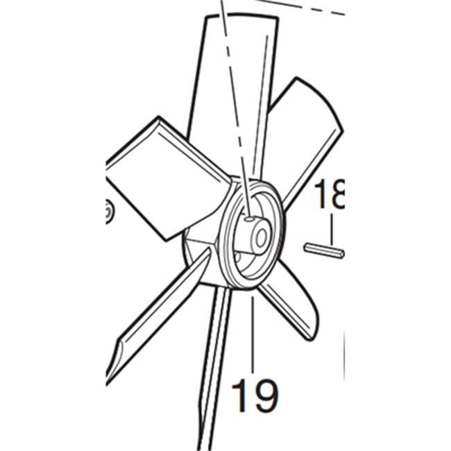 Allegro Industries 9539-12F 8-Blade Fan for Industrial Plastic Blower