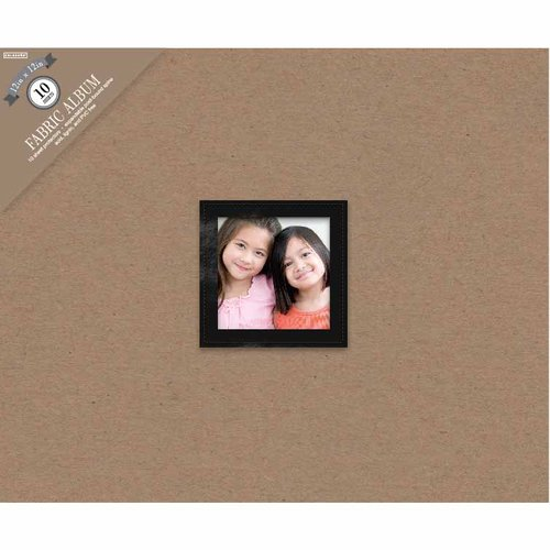 "Colorbok 12"" 3-Ring Front-Window Album, Black"