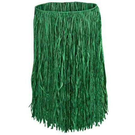 Extra Large Raffia Hula Skirt - Green - CASE OF 12
