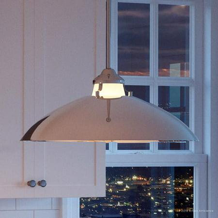 Urban Ambiance Luxury Mid-Century Modern Pendant, Size: 8-1/4