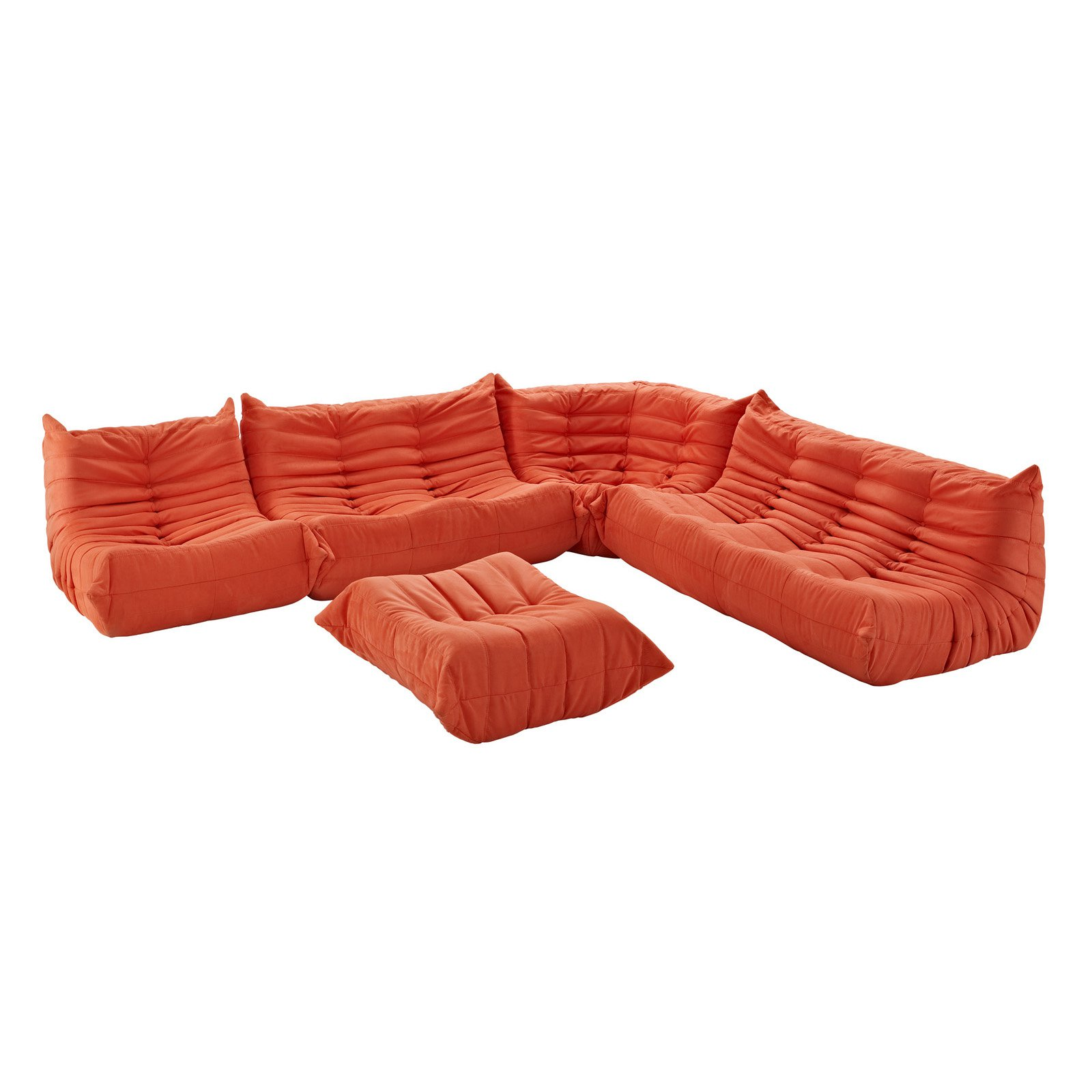 Modway Furniture Waverunner Sofa Set, Black - EEI-558-BLK