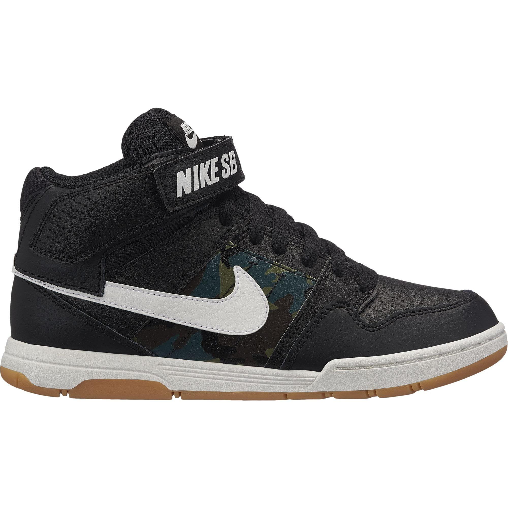 Nike 645025-019: Nike SB Kids Big Kid Mogan Mid 2 Black White Gum Sneaker by Nike
