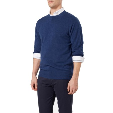 New Mens Cashmere Sweater - Bloomingdale's NEW Pacific Blue Mens 2XL Crewneck Cashmere Sweater