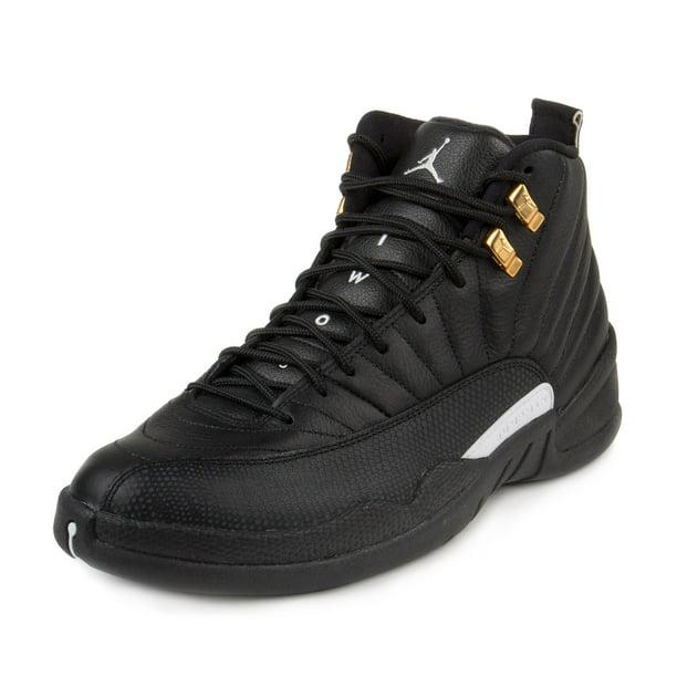 Nike Mens Air Jordan 12 Retro Black/White-Metallic Gold 130690-013
