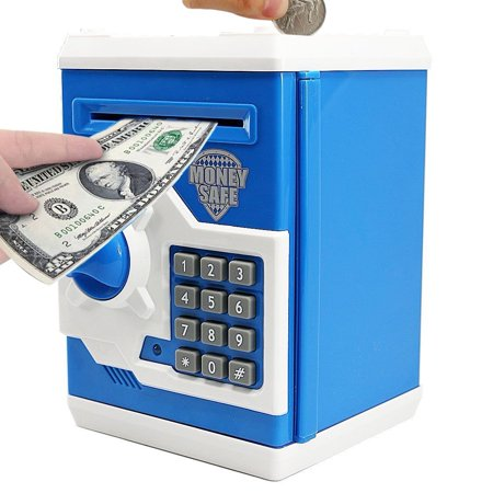 - Cartoon Electronic Piggy Bank Cash Coin Can, Electronic Money Bank, Mini ATM Money Saver Coin Bank Password Box Saving Banks, Great Gift Toy for Kids Children