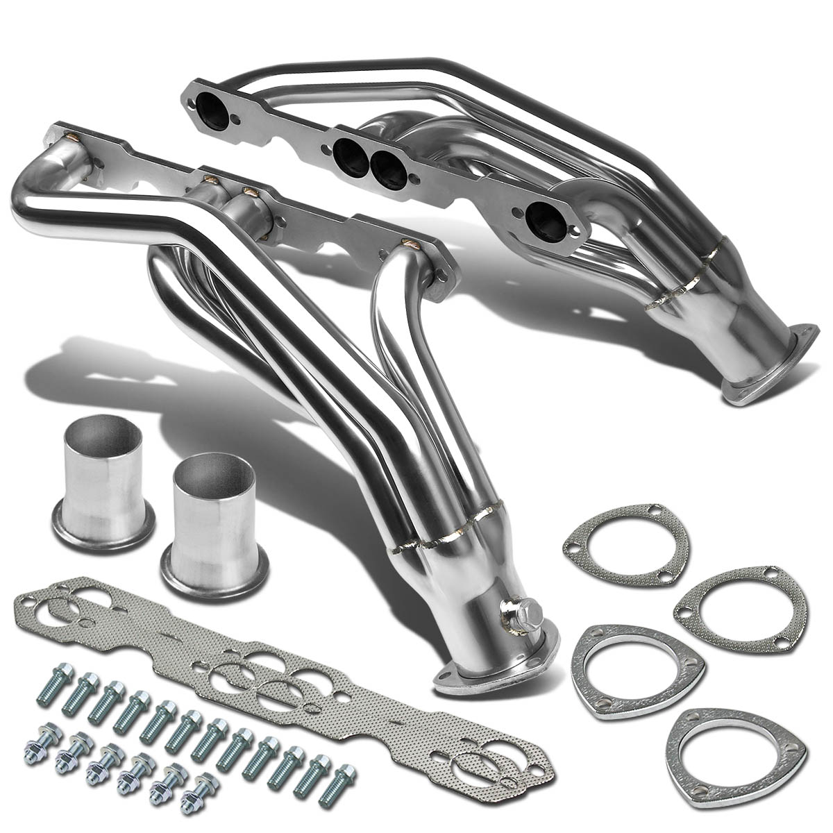 For 88-97 Chevy/GMC C/K Serise High-Performance 2-PC Stainless Steel Exhaust Header Kit 89 90 91 92 93 94 95 96