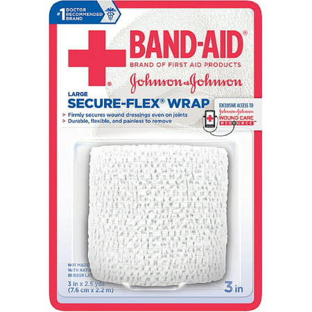 Secret Wrap (BAND-AID First Aid Secure-Flex Wrap, Large 1 ea (Pack of 3) )