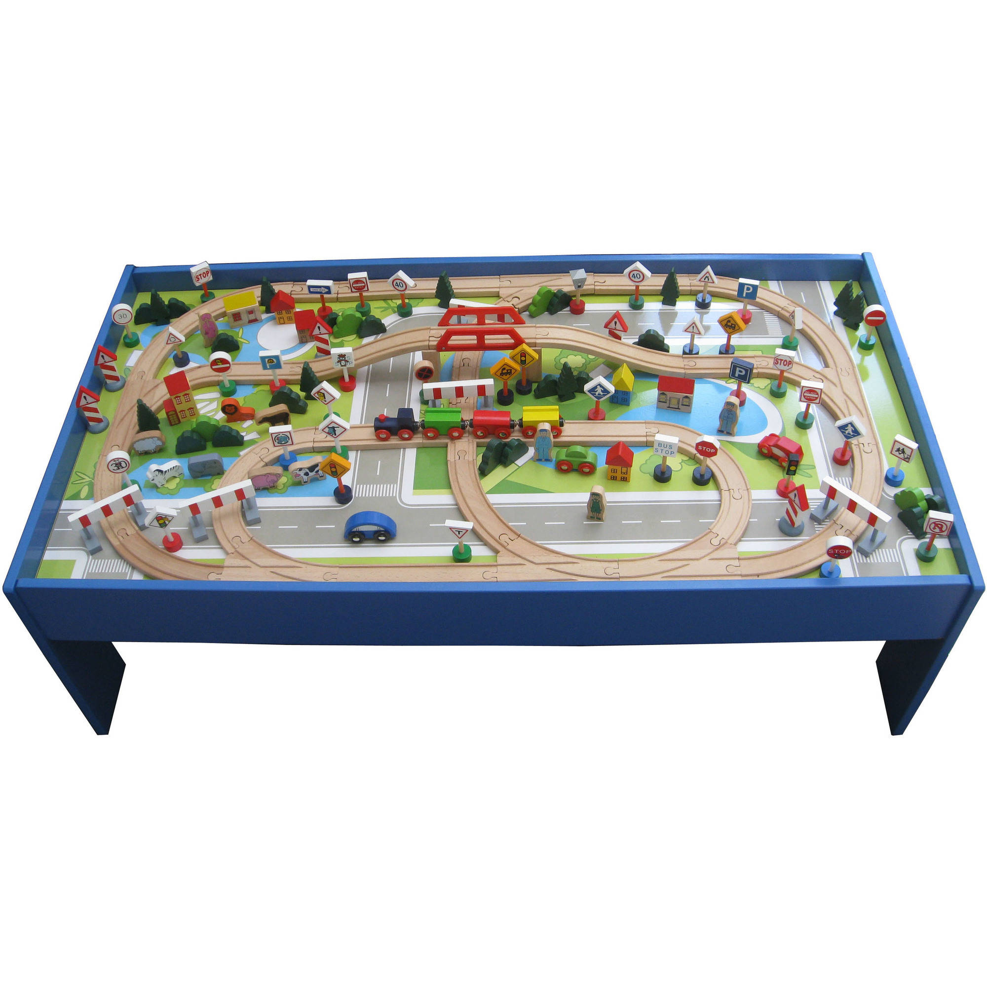 150-Piece Wooden Train Set with Table