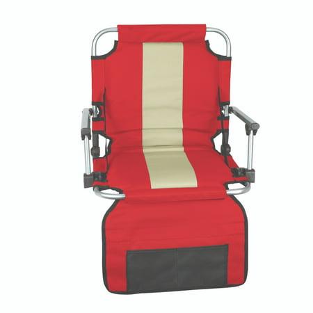Lafayette Stadium Seat - Stansport Folding Stadium Seat with Arms, Red