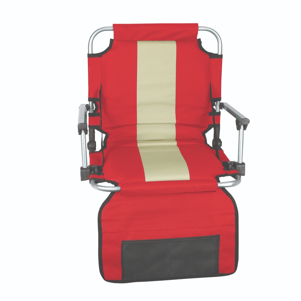 Stansport Folding Stadium Seat with Arms, Red